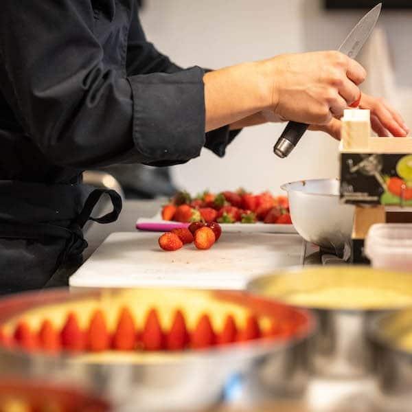 cours de pâtisserie fraisier