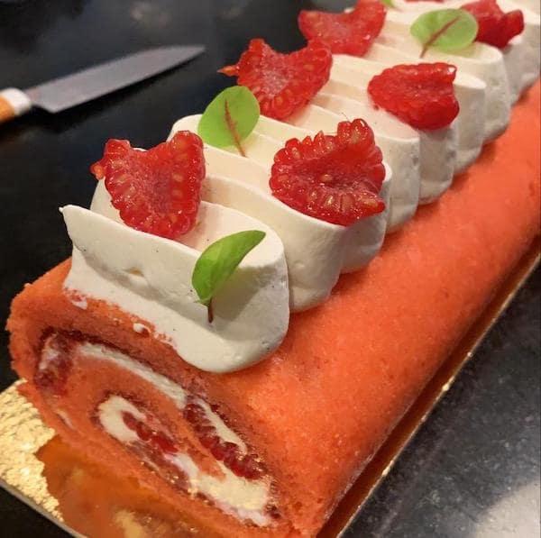 cours de pâtisserie framboisier