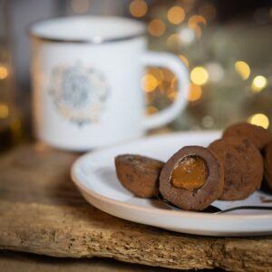 truffe coeur caramel